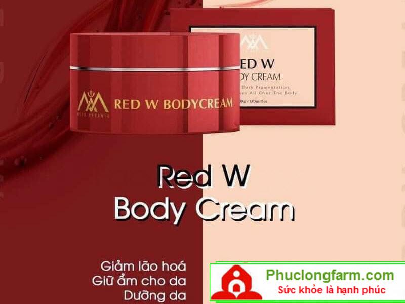 Red W Body Cream - Dưỡng Da, Giảm Lão Hóa Và Giữ Ẩm Cho Da