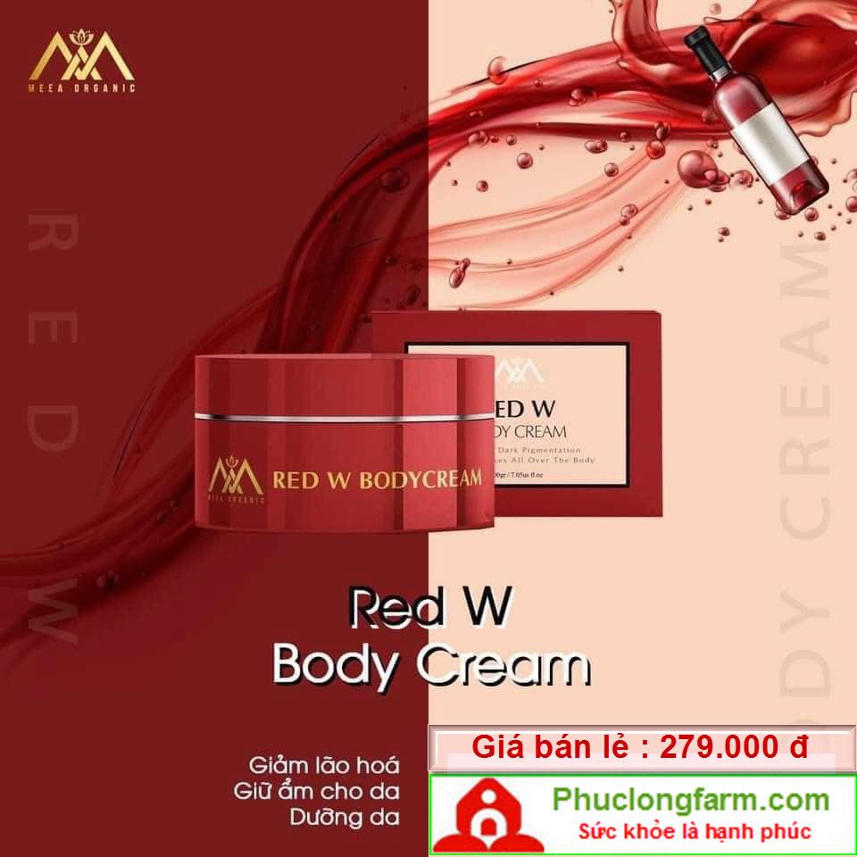 DƯỠNG DA RED W BODY CREAM - 229.000 Đ