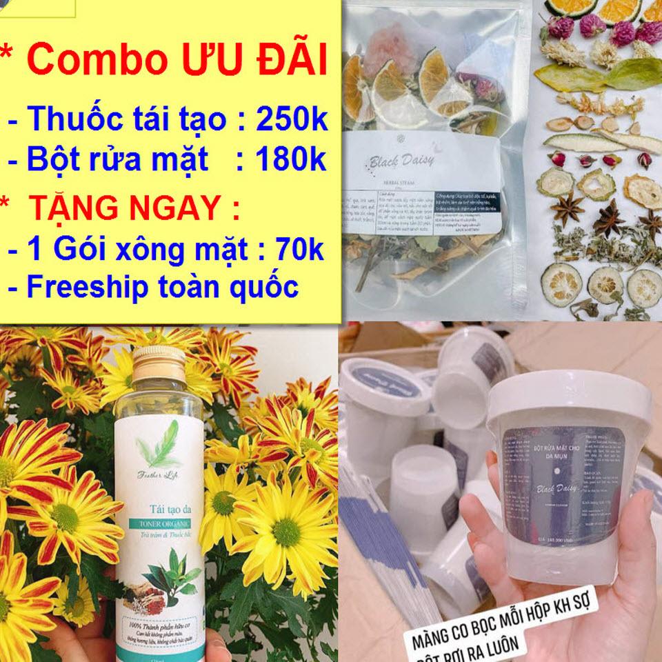 COMBO TRỊ MỤN VÀ CHĂM SÓC DA THẢO RUBI - 430.000 Đ